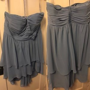 Alfred Angelo Cinderella Blue strapless dress
